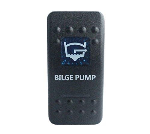 bandc Marine Grade Auto Boot Bilge Pumpe Wippschalter Blau LED 5Pin SPST ON-OFF-Wasserdicht IP68 Single-pole-licht-schalter