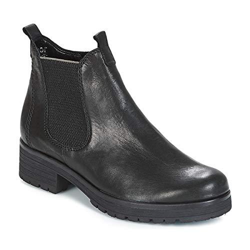 Gabor Damen Chelsea Boots 92.091,Frauen Stiefel,Halbstiefel,Stiefelette,Bootie,Schlupfstiefel,hoch,Blockabsatz 2.5cm,Einlegesohle,G Weite (Normal),schwarz (Micro),UK 6.5