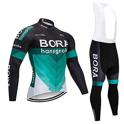Giow Sportbekleidung Radsport Sweatshirt Langarm Fahrradbekleidung Bike Top Herren Mountainbike Trikot 3D Gel Atmungsaktiv Trägerhose.