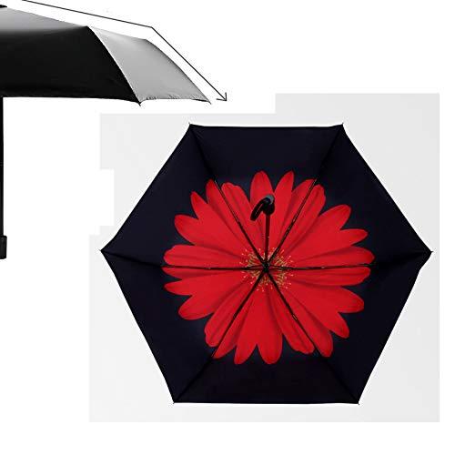 Lsls Regenschirm, Taschenschirm mit Knopf Automatik Umbrella Schirm klein, Mini Regenschirm leicht für Damen Herren