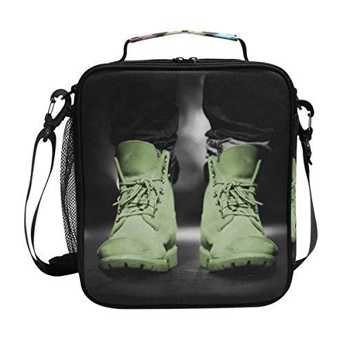 Malpley Lunchbox mit Schuhen und isoliertem Kühlfach, ()