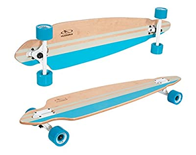 HUDORA Longboard Mission Beach, türkis - ABEC 7 - Skateboard - 12817