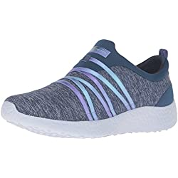 Skechers Burst Alter Ego Blue Multi Womens Trainers Shoes-4