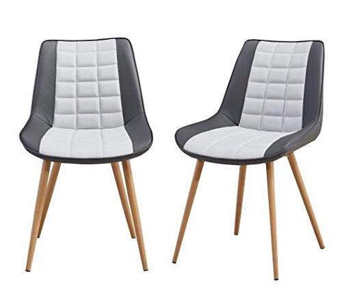 Folkbury Nordic Style Esszimmerstühle, skandinavisches Design, Metall, Stühle, Esszimmer, Wohnzimmer, Küche, 2 Stück - 2 Stück Metall-stuhl