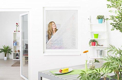 Image of Pollenschutz-Vlies Pollenschutzgitter Pollenfilter Set für Fenster 130 x 150 cm - (3 Pollenschutzvliese zum tauschen + 1 Klettband)