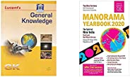 General Knowledge + The Malayala Manorama English Yearbook 2020 (Set of 2 Books)