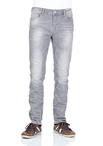 M.O.D Herren Straight Fit Jeans grey denim