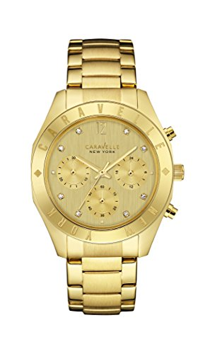 Caravelle New York Womens Analogue Quartz Watch with Gold-Tone-Stainless-Steel Strap 44L213