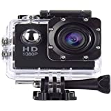 Jouxy TX302 Water Resistant HD Sports Camera with Wide Angle Lens for Photography | Cycling | Skydiving | Blog | Tracking | Swimming | Underwater Diving & Many More with Image Censor Feature (Black)