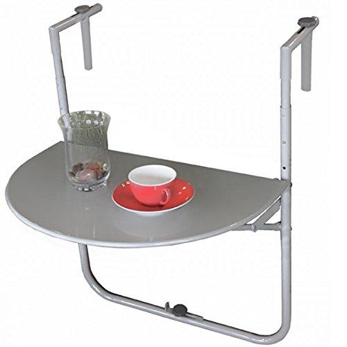 Balkon Hängetisch SAGAR Stahl pulverbeschichtet Tisch zum Aufhängen Höhenverstellbar Möbel