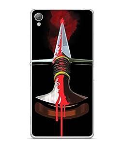PrintVisa Animated Sword High Gloss Designer Back Case Cover for Sony Xperia XA :: Sony Xperia XA Dual