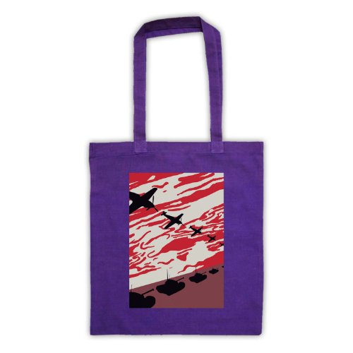 WW2 Spitfire & serbatoi Tote Bag Viola