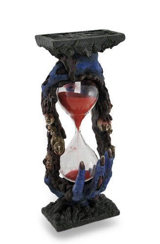 Holding Hour Glass Statue Sand Timer by Things2Die4 ()