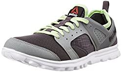 Reebok Mens Amaze Run Ash Grey, Flat Grey, Lime and Black Running Shoes - 8 UK/India (42 EU)(9 US)