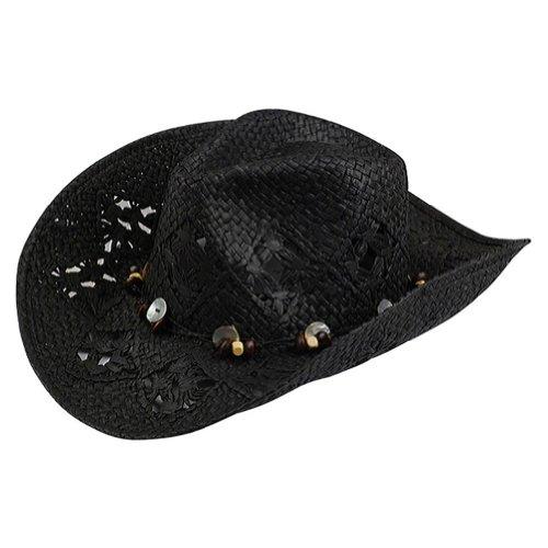 MCap Damen-Toyo Cowboy Hat Gr. One Size, schwarz (Damen Toyo Cowboyhut)