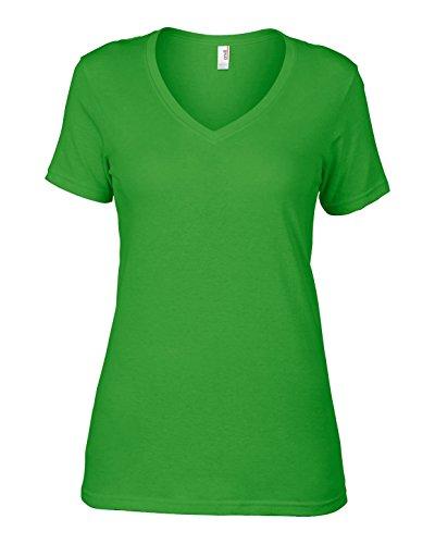 Enclume AV123 Voilage coton pour femme avec col en V Vert - Vert pomme