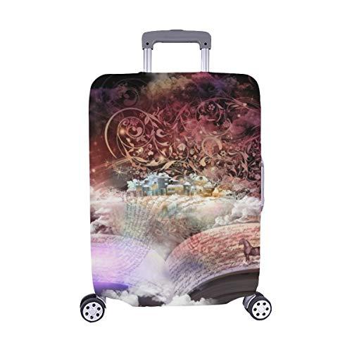 (Nur abdecken) Öffnen Sie magische Buchgeschichten Bildungsgeschichten Spandex-Staubschutz Trolley Protector case-Reisegepäck-Schutz-Koffer-Abdeckung 28,5 X 20,5 Zoll