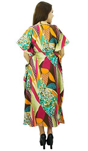 Phagun Caftan Bohème Caftan Vêtements En Coton Robe De Nuit Longue Maxi Multicolore