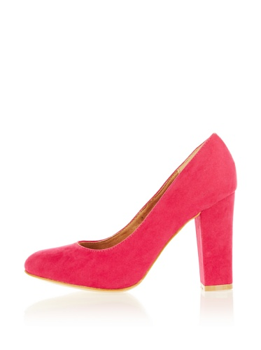 Fabulous Fabs Damen Pumps Classic Shoes Blockabsatz Fuchsia/Magenta, Schuhgröße:39