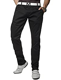Rock Creek Herren Chino Hose Straight Fit Hose Herrenhose gerader Schnitt RC-2071