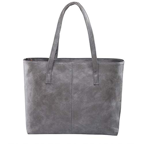 GSYDXKB bag 2018 fashion brief bags shoulder bag women's leather gray/black large capacity luxury purses tote bags design bags