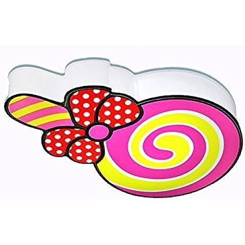 Creativo Lindo Lollipop Luz De Techo Chica Chica Dormitorio Luz De Techo [Eficiencia: A +]