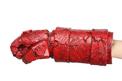 Xcoser Film Arm mit Handschuh Cosplay Kostüm Zubehör für Halloween Verrückte Kleid Kleidung Replik (Hellboy Halloween-kostüm)