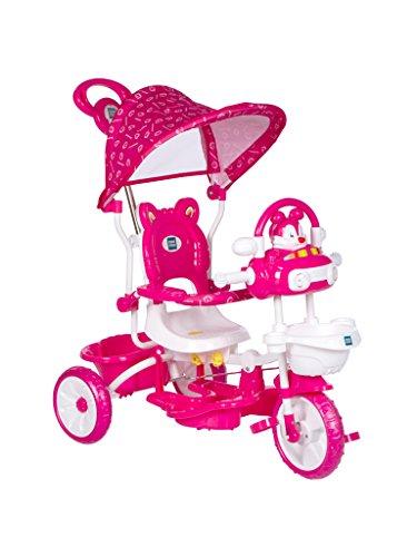 Mee Mee Premium Baby Tricyclewith Adjustable Seat (Pink)