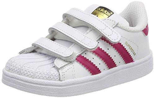 adidas Unisex Baby Superstar Gymnastikschuhe, Elfenbein (FTWR White/Bold Pink/FTWR White), 20 EU