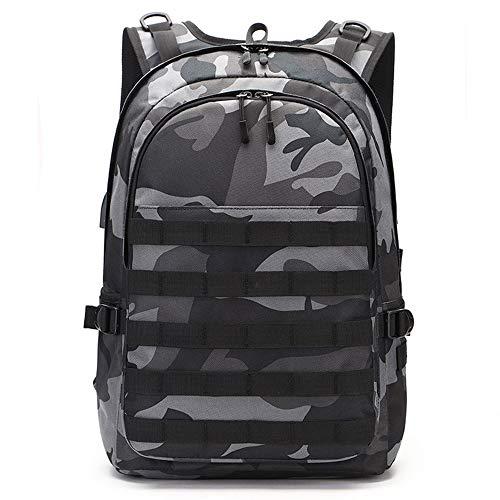 Mochila de camuflaje para viajes al aire libre, mochila para ordenador portátil con puerto de carga USB & interfaz de auriculares para hombres y mujeres Fit 15,6 pulgadas portátil & ordenador