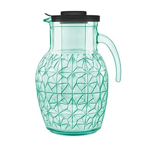 LZXSHUIHU Glaskrug 2,5 Liter, Karaffe wiederverwendbar Perfekt für Saft Tee Getränke Outdoor Garten Geschenk für die Familie