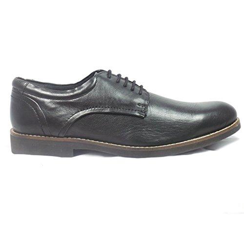 Lotus Mens Black Leather Lace-Up Shoe 8