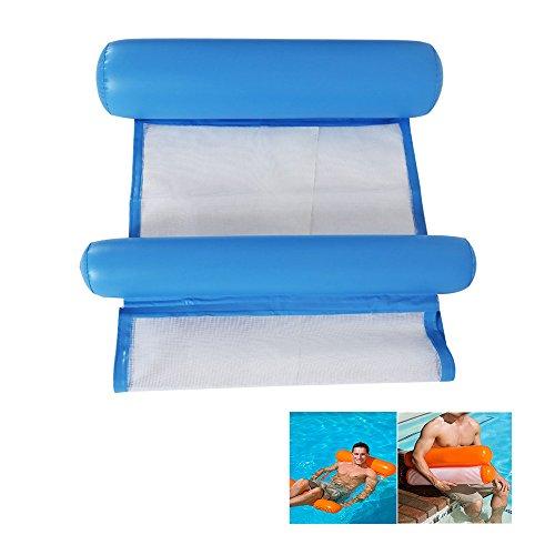 Aolvo Mesh Hängematte Pool Float, Mehrzweck-Schwimmbad Float Hängematte tragbar Floating Hängematten für Erwachsene, Jugendliche und Kinder, blau, Einheitsgröße