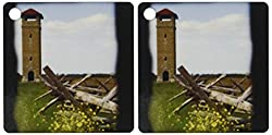 3dRose Observation Tower at the Antietam National Battlefield, Sharpsburg - Key Chains, 2.25 x 2.25 inches, set of 2 (kc_55477_1)