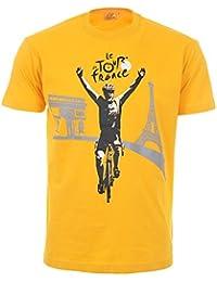 Tour de France Tdf-SA-3061 T-Shirt Adulte Homme, Jaune, FR : XL (Taille Fabricant : XL)