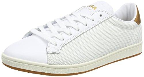 Gola Tennis 79 Mesh, Scarpe da Ginnastica Basse Uomo Bianco (White/gold)