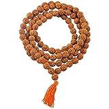 Petrichor - Certificato Rudraksha Mala Originale con Certificato per Indossare e Japa Mala (5 rosari mukhi, 108 Perle di Mala