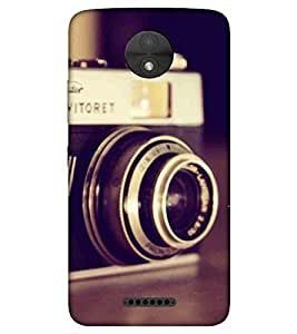 For Motorola Moto C vintage camera, camera, old camera Designer Printed High Quality Smooth Matte Protective Mobile Pouch Back Case Cover by BUZZWORLD