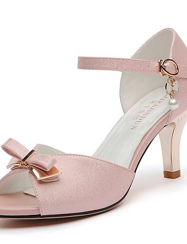 UWSZZ IL Sandali eleganti comfort Scarpe Donna-Sandali-Matrimonio / Ufficio e lavoro / Serata e festa-Spuntate-A stiletto-Finta pelle-Rosa / Bianco White