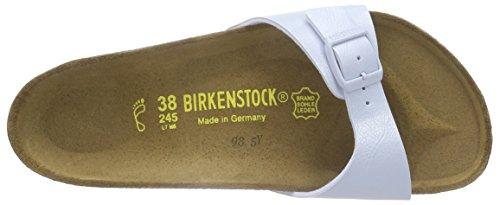 Birkenstock - Madrid Birko-flor, Ciabatte Donna Blu (Blau (Graceful Babyblue))