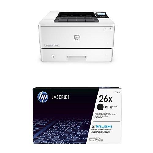HP LaserJet Pro M402dn (C5F94A) Laserdrucker weiß + HP 26 Toner (schwarz)