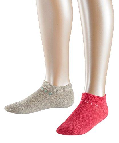 ESPRIT Mädchen Füßlinge Foot Logo, 2er Pack, Mehrfarbig (Mouline 0085), 35-38