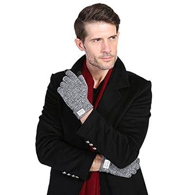 Herren Warme Winterhandschuhe, Jungen Haarige Winter Süße Winter-Handschuhe Finger Schützen Grau Schwarz Weiß von BAO CORE auf Outdoor Shop