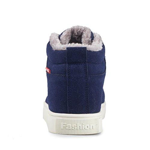 SITAILE Herren Schnür Winter Boots Outdoor Stiefel Gefüttert Schneestiefel Blau