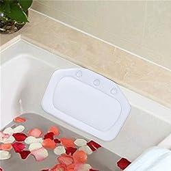 Badewannenkissen, iFanze Komfort Wannenkissen mit saugnäpfen - Super weich Badekissen für badewanne - 30 * 20.5 cm