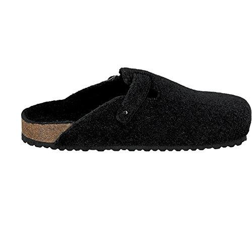 softwaves 511-064 PANTOUFLES HOMME CLASSIQUE pantoufles feutrées Noir Noir