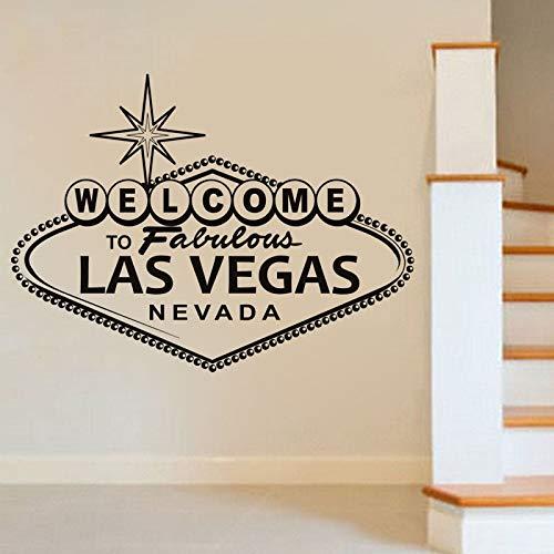 Yyoutop Willkommen bei Fabulous Las Vegas Wandaufkleber Charakter Vinyl Kunst Dekorative Wandtattoo Wohnkultur Poste 58x78 cm