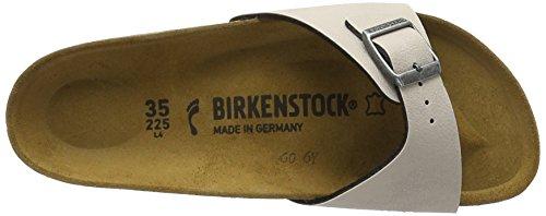 Birkenstock Madrid, Mules Femme Beige (Pull Up Stone)