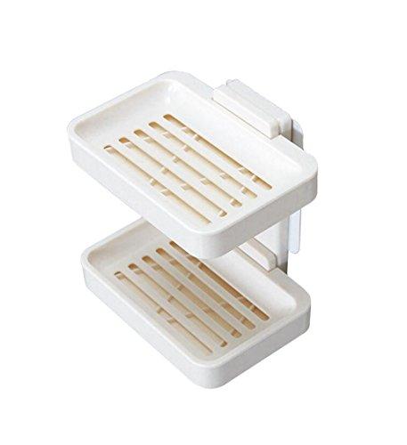 (2 - Schicht - Soap Box, Automatische EntwäSserung Toilette Rack, Keine LöCher, Mauer, KleiderbüGel, Seife, Rack, Badezimmer, WC, Soap Box.)