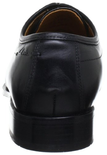 Clarks Dexie Over 203485757100, Scarpe stringate basse uomo Nero (Black Leather)